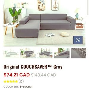Couchsaver Grey Cover